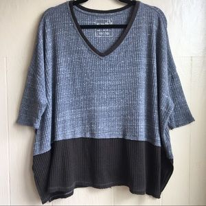 Free People Oversized Colorblock Slouchy Tee